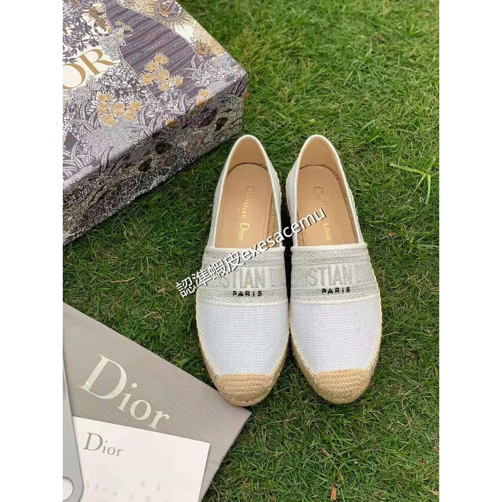 Dior迪奧刺繡漁夫鞋 休閒鞋 懶人鞋