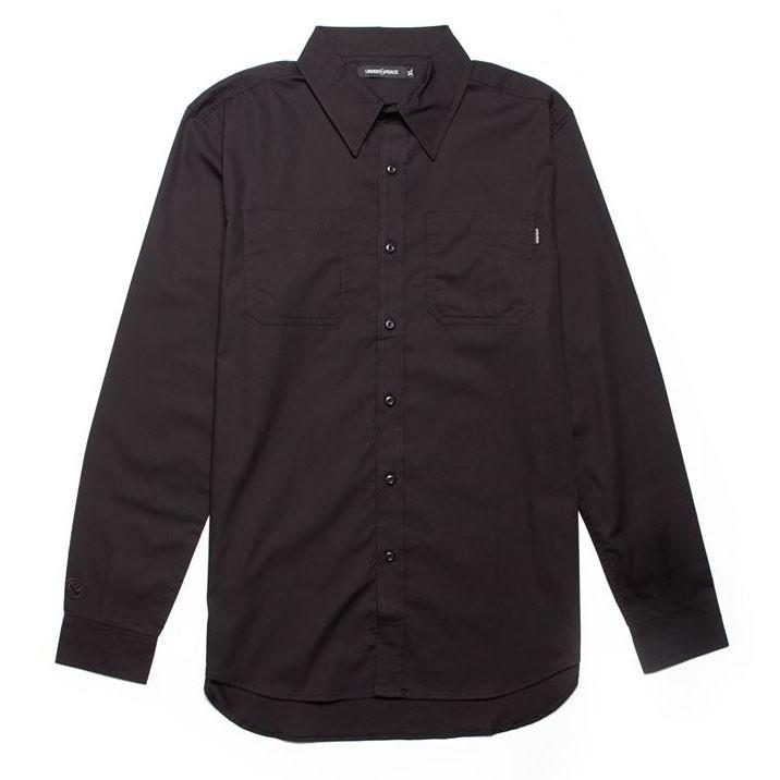 Under peace - 19AW BASIC / SHIRT.LS 白標 長袖襯衫 (黑色) 化學原宿