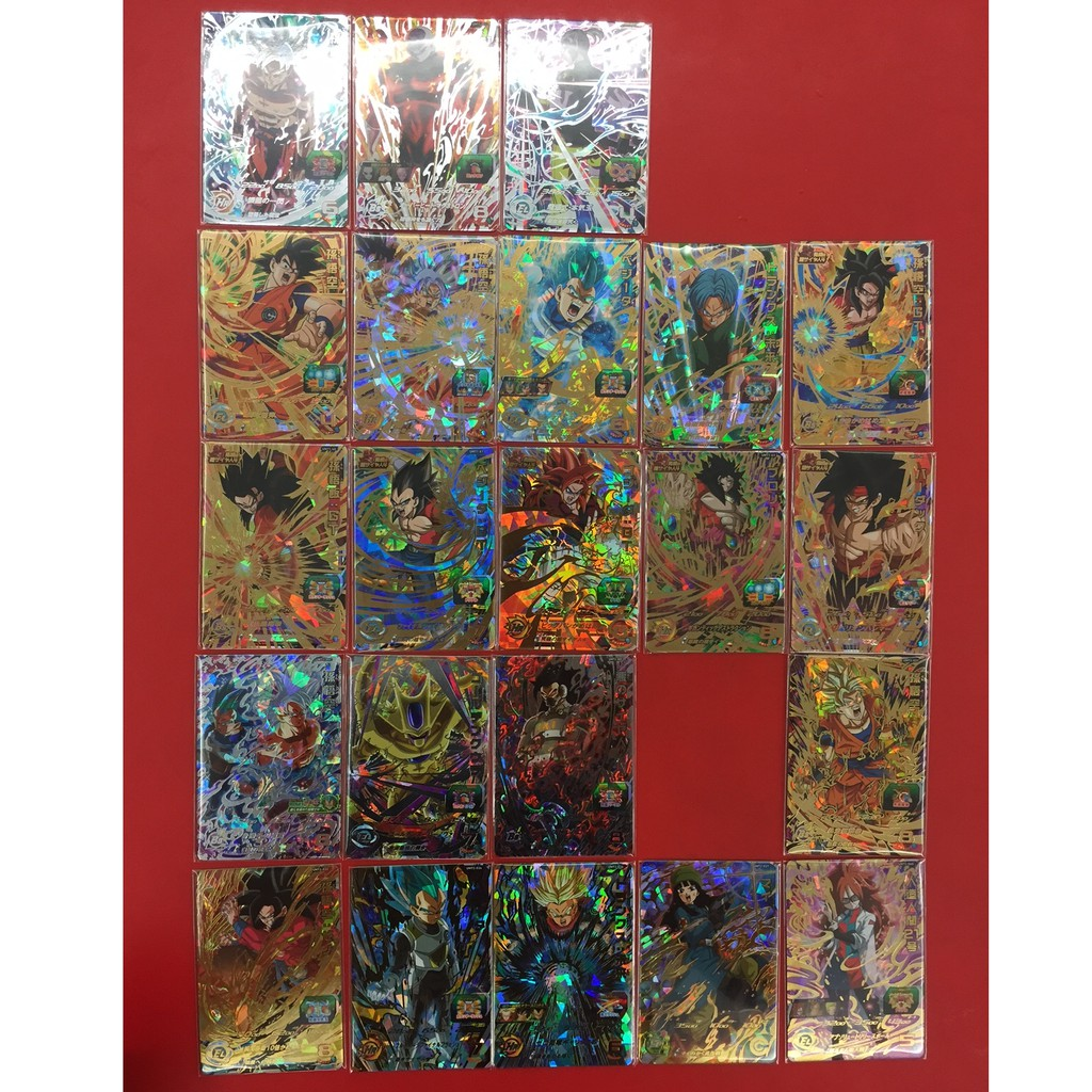 七龍珠英雄 第一彈+第二彈 4星卡 四星卡 究極稀有卡 全套22張合售 讓孩子喜歡到瘋狂的生日禮物 獎勵品