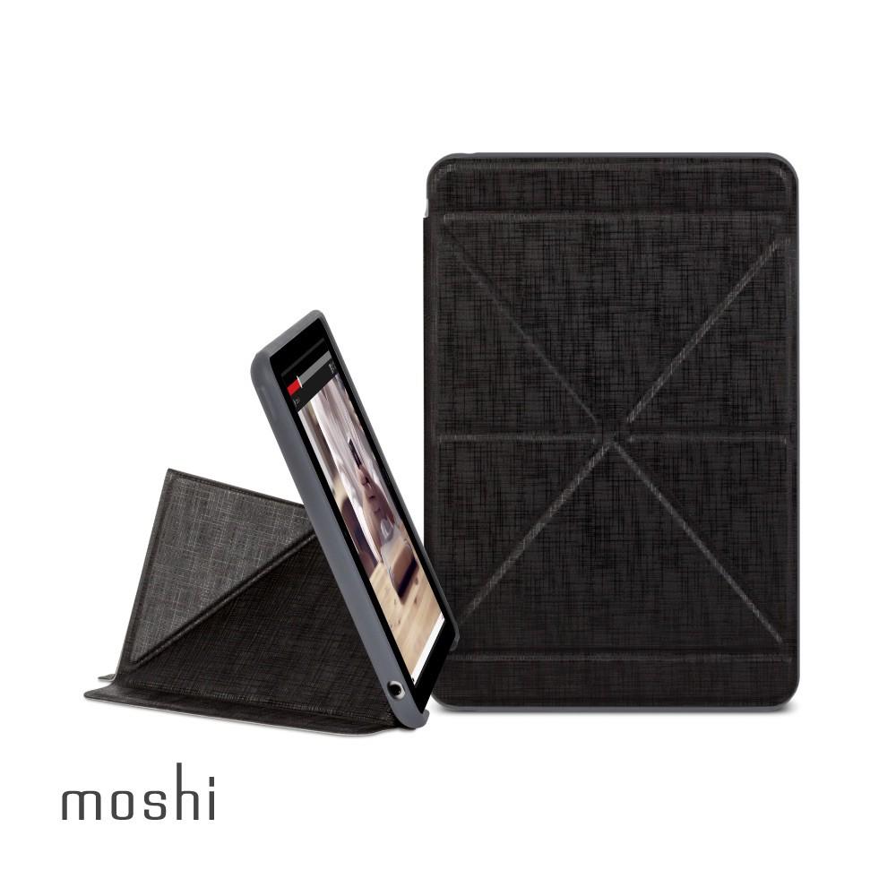 Moshi VersaCover for iPad mini 4 多角度前後保護套(黑)