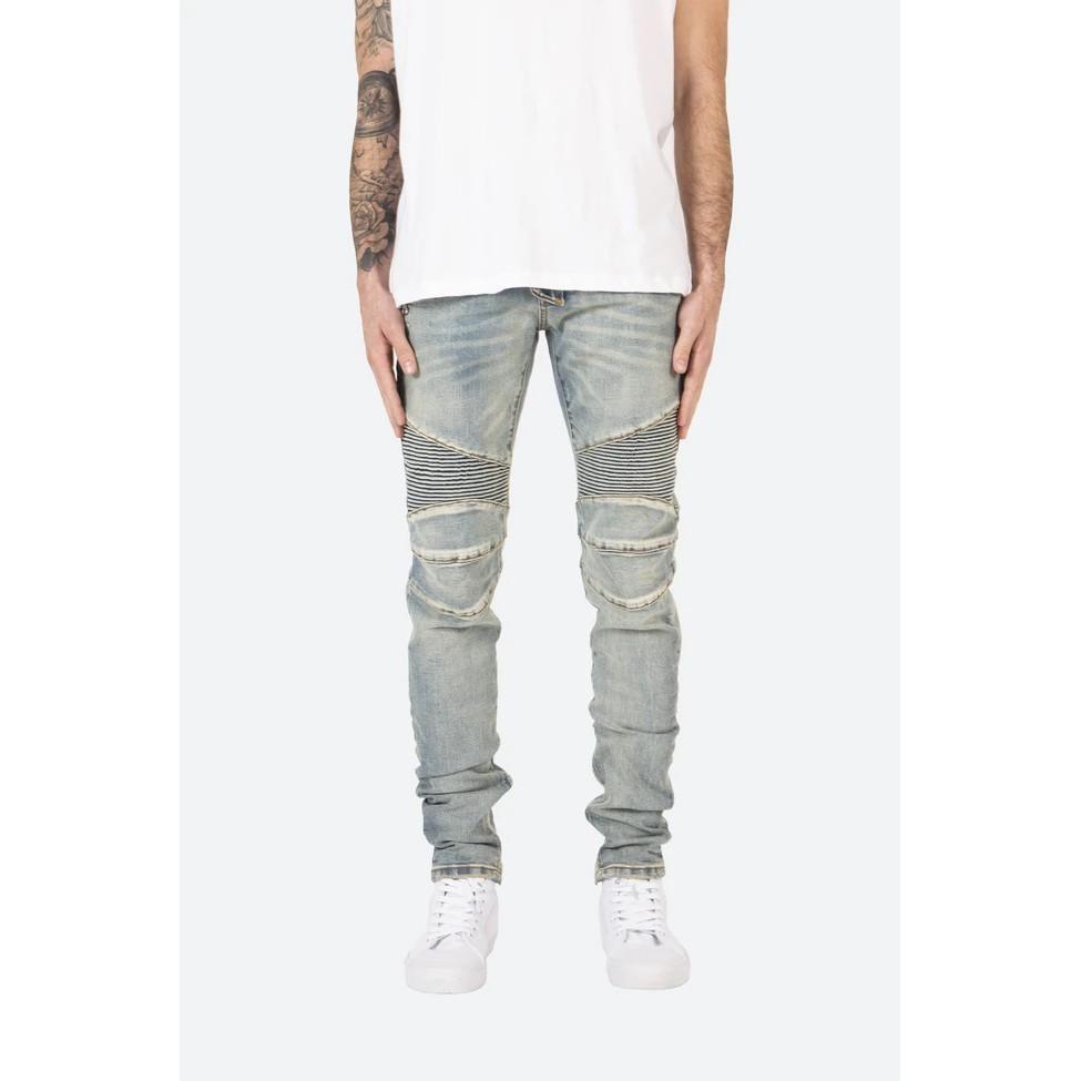 【ANCENS】mnml M14 STRETCH DENIM Light Blue 窄版 類Balmain牛仔褲 機車褲