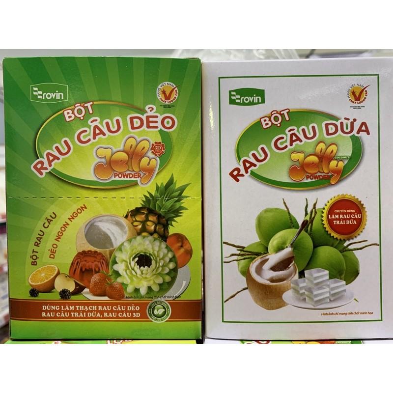 ㊝ ▛亞芯烘焙材料▟  越南 果凍粉 10g*12包/盒 原味 椰子味 原裝 果凍花