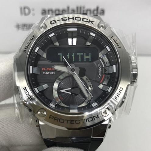 卡西歐手錶男G-SHOCK鋼鐵之心光動能GST-B200碳纖維樹脂錶帶