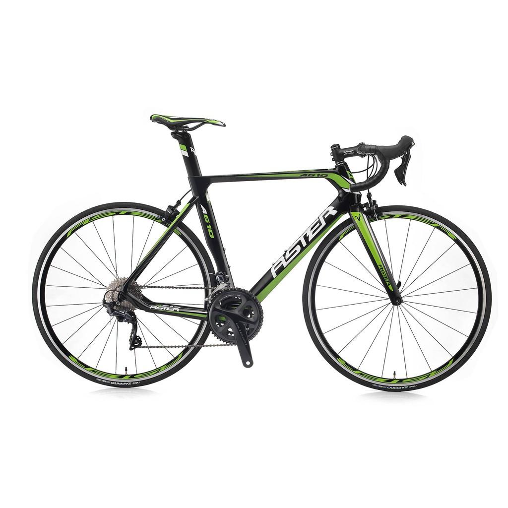 ASTER亞仕大A610碳纖維空氣力學車款新裝上市(黑綠)-【台中-大明自行車】