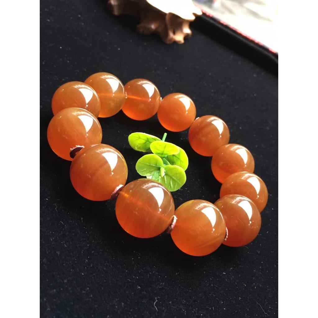 緬甸琥珀《手串》- 21mm橘紅蜜蠟手串 ㊟ 購買前請詳閱商品內文 ㊟