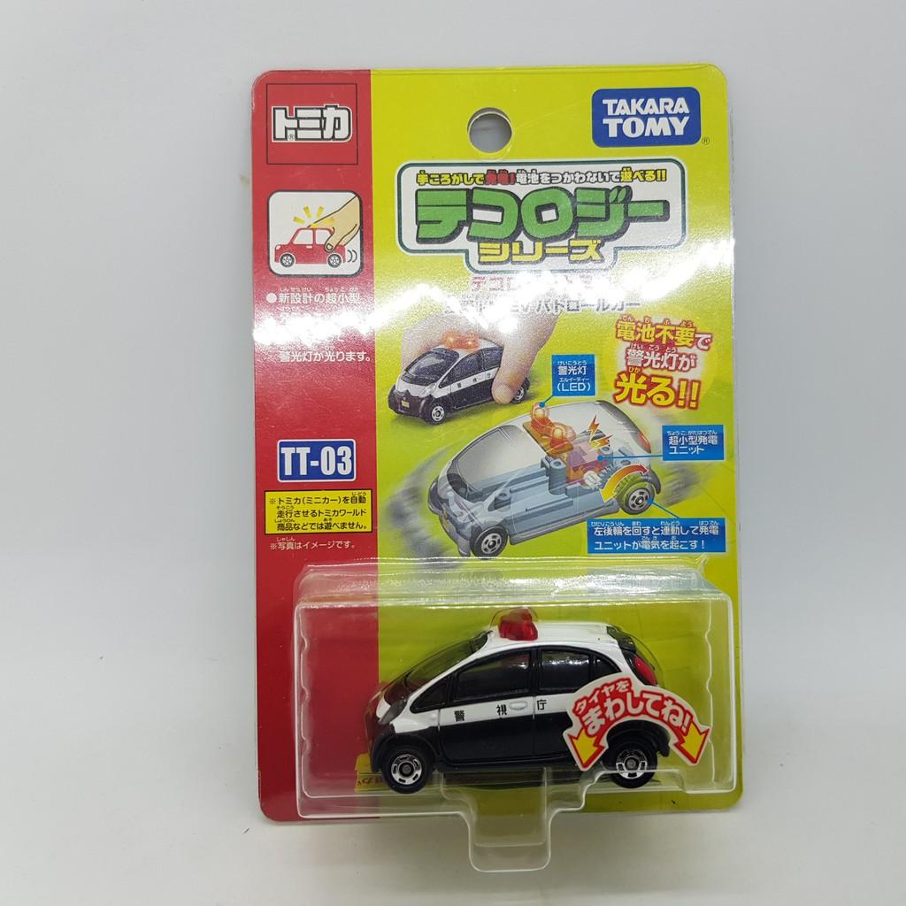 【小車停車場】TOMICA TT-03 TT03 發光車 三菱 I-MIEV 警車
