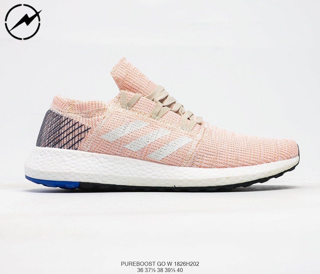 Adidas Pureboost Go W 愛迪達全掌爆米花針織透氣跑鞋07
