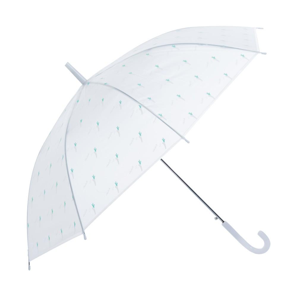 麗尚秀 簡約生活系列 生活飲食印花長柄直傘《青蔥》晴雨傘 太陽傘 遮陽傘 雨傘 防潑水 自動傘 彎把傘【FA216】