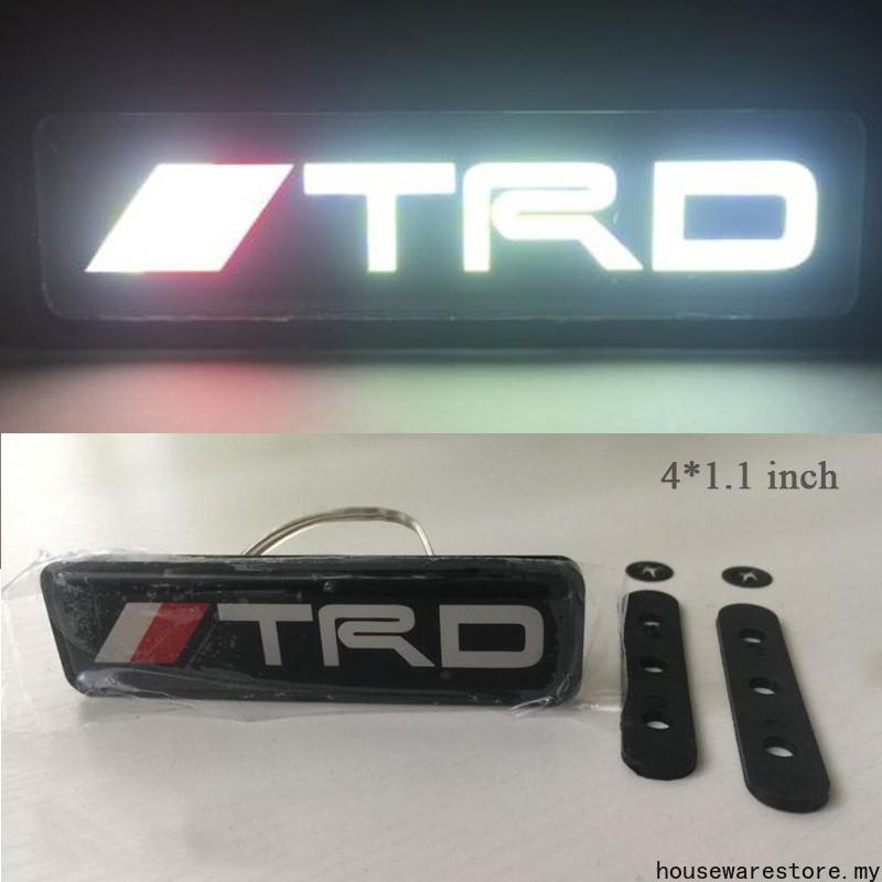 1 個用於豐田的 Trd Led 燈前格柵標誌標誌徽標
