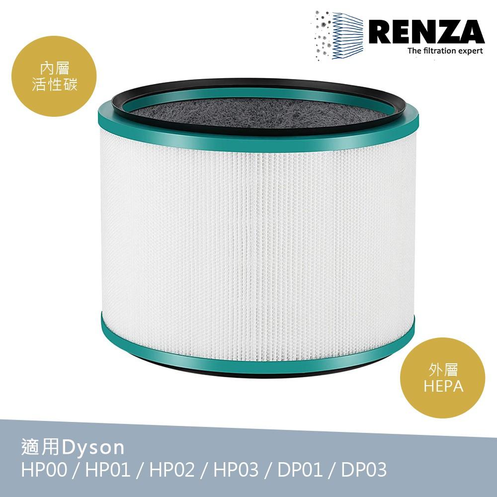 Renza濾網 適用Dyson HP00 HP01 HP02 HP03 DP01 DP03 BP01 HEPA活性碳濾芯