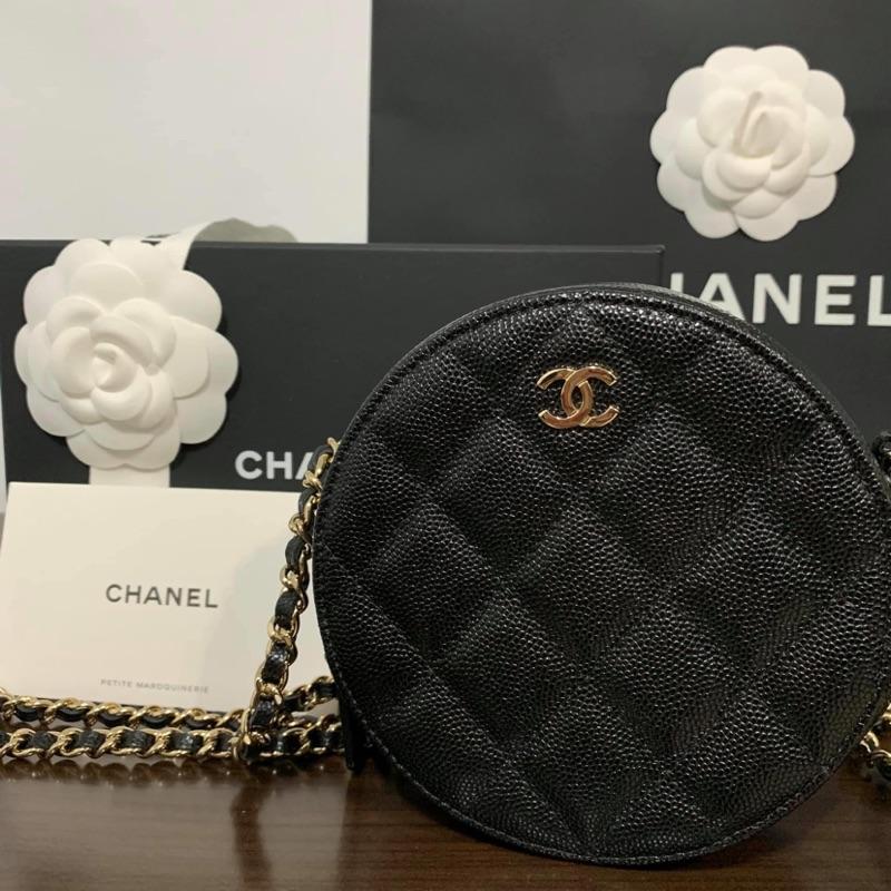 Chanel 香奈兒 圓餅包 鏈子晚宴包 全新