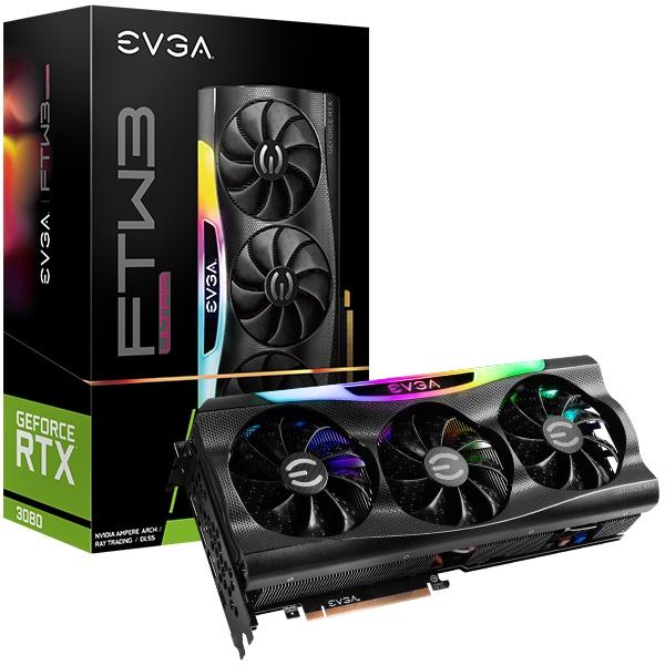 EVGA GeForce RTX 3080 FTW3 ULTRA GAMING, 可換3060Ti 3070
