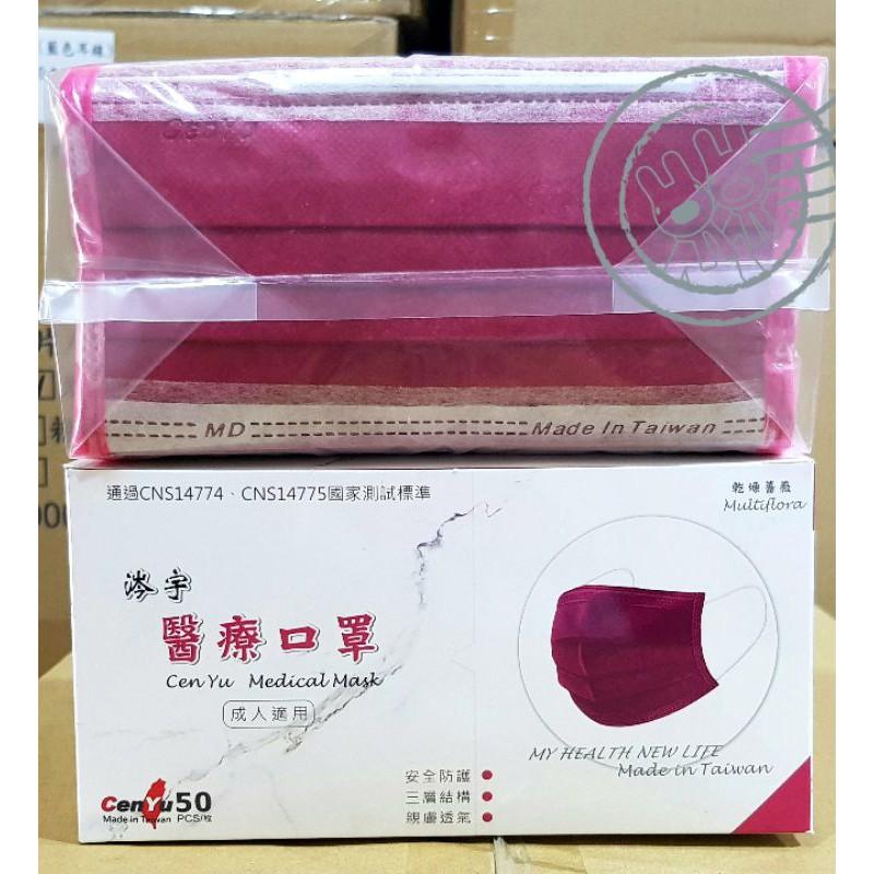 【HEYA】涔宇醫用口罩 台灣製 雙鋼印 韓式風格 黑色漩渦 霽籃年華 緋紅 現貨