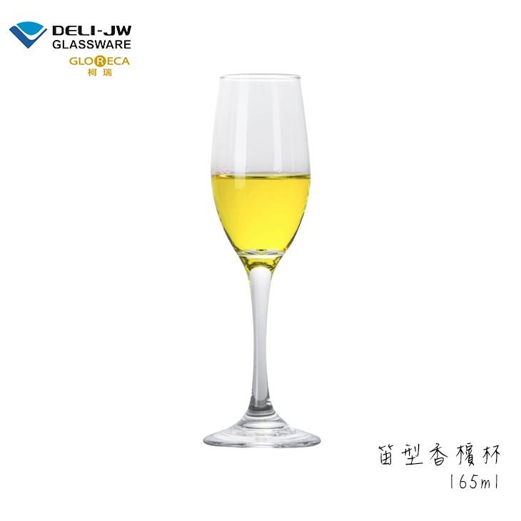 DELI 德力玻璃 笛型香檳杯165ml (6入組) 柯瑞玻璃杯 酒杯 玻璃杯