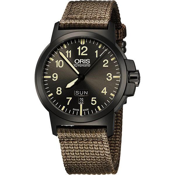 ORIS 豪利時 BC3 Advanced 日曆星期機械手錶-鐵灰x墨綠/42mm(0173576414263)