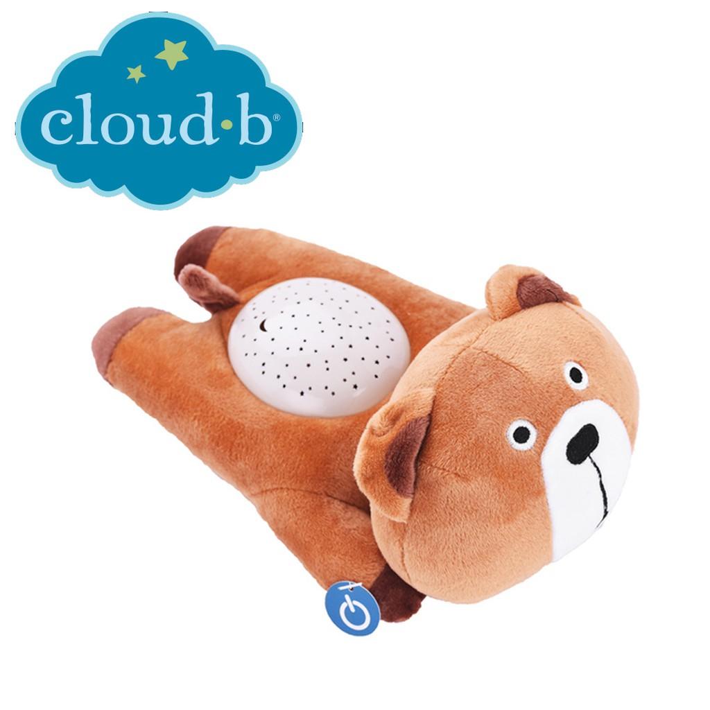 美國cloud b 聲光音樂夜燈(棕熊熊) 床邊安撫玩具玩偶