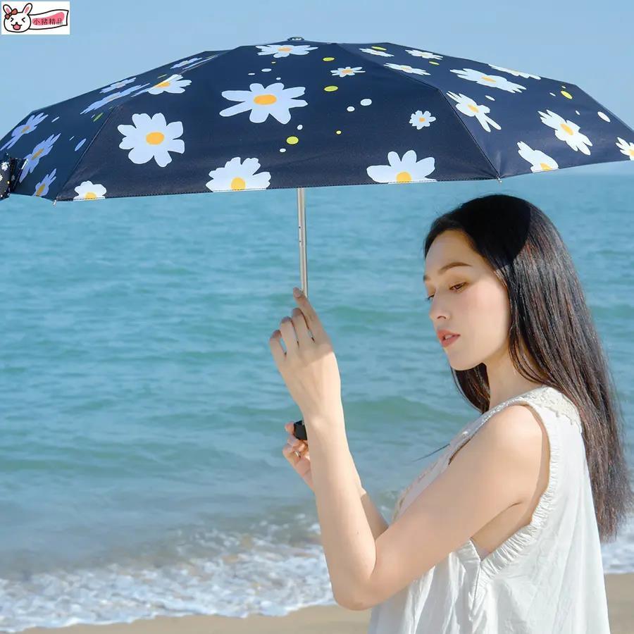 【小豬精品】🌵 店長推薦🌾﹉✱๑日本BANANA KIU小黑傘防曬紫外線黑膠太陽傘口袋傘男女巧便攜雨傘