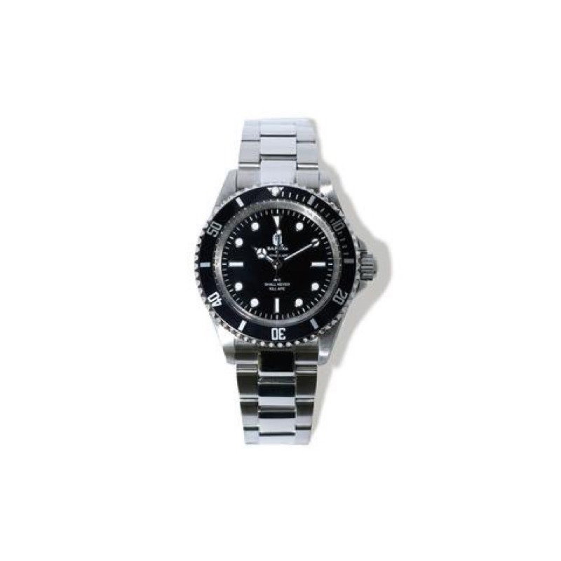 A Bathing ape bape type1 bapex ape 黑水鬼 鋼錶 手錶