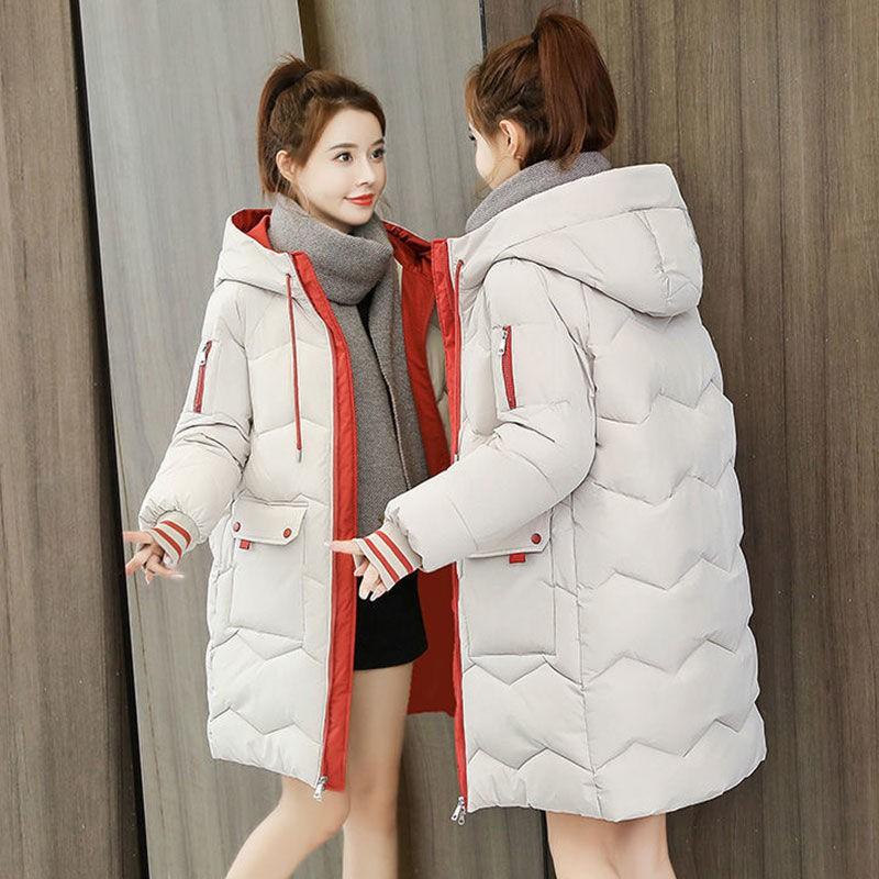 【免運現貨】羽絨棉服女2020冬季韓版新款氣質寬松加厚中長款棉衣棉襖外套女