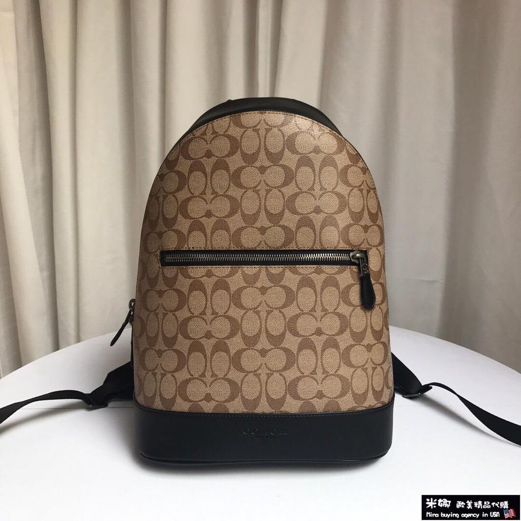 米娜歐美精品代購 COACH 寇馳 78756 新款PVC拼皮男背包  旅行後包 歐美精品 美國紐約代購