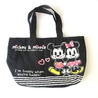兔日殿~ 日本樂天限定 迪士尼Disney 米奇米妮 黑色可愛帆布小托特包手提袋手提包 新北市