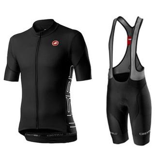 2021 castelli 蝎子新款騎行服男女成人兒童短袖套裝、