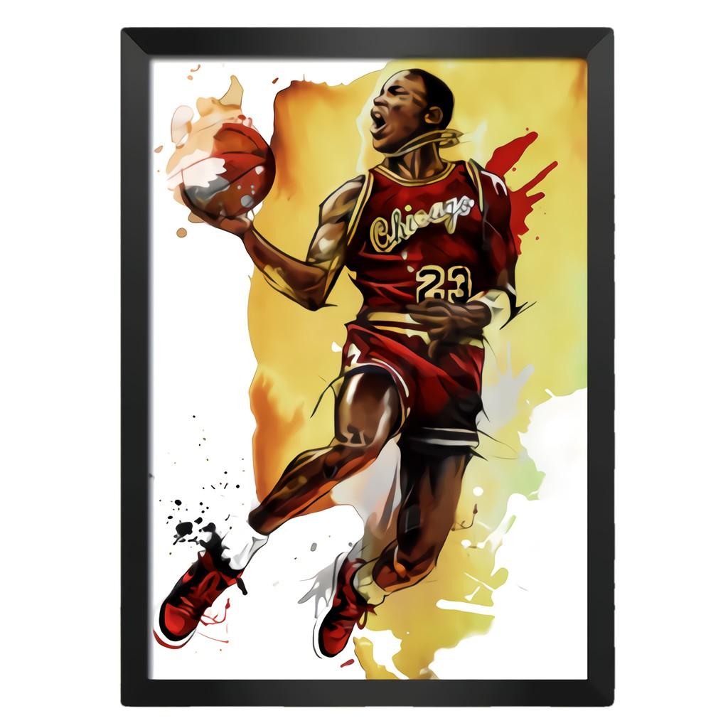 [現貨]彩色裝飾海報 jordan 飛人2 MJ 麥可喬丹 籃球之神 臥室宿舍客廳牆畫文青nba海報咖啡廳