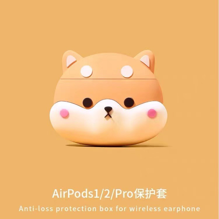 柯基狗 柴犬 適用於 Airpods Pro保護套 1/2代保護殼 送掛鉤 蘋果無線藍牙耳機保護套