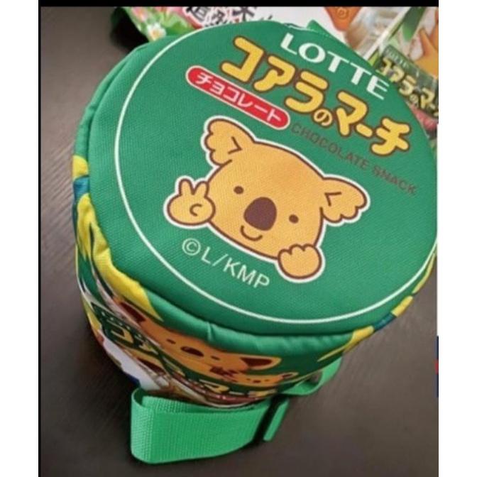 樂天小熊餅乾造型 圓筒 側背包