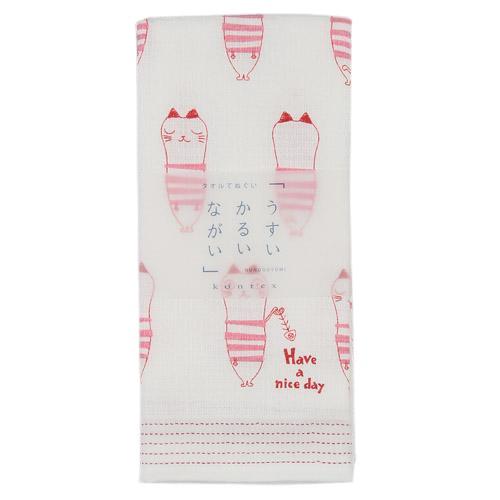 [偶拾小巷] 日本製 今治毛巾 多用途紗布長毛巾 薄輕長33x100cm - 貓咪
