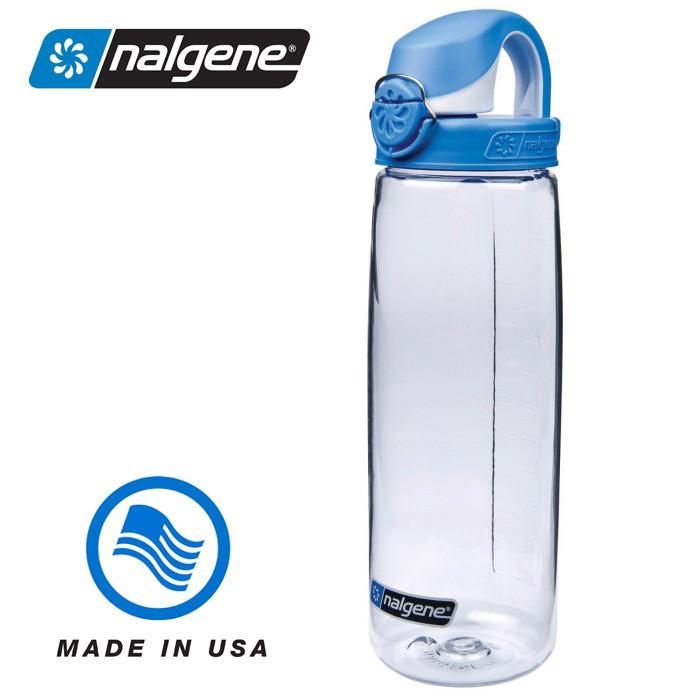 【Nalgene 美國】650ml OTF 運動水壺 水瓶 隨身水壺 無雙酚A 透明/藍色 (5565-2024)