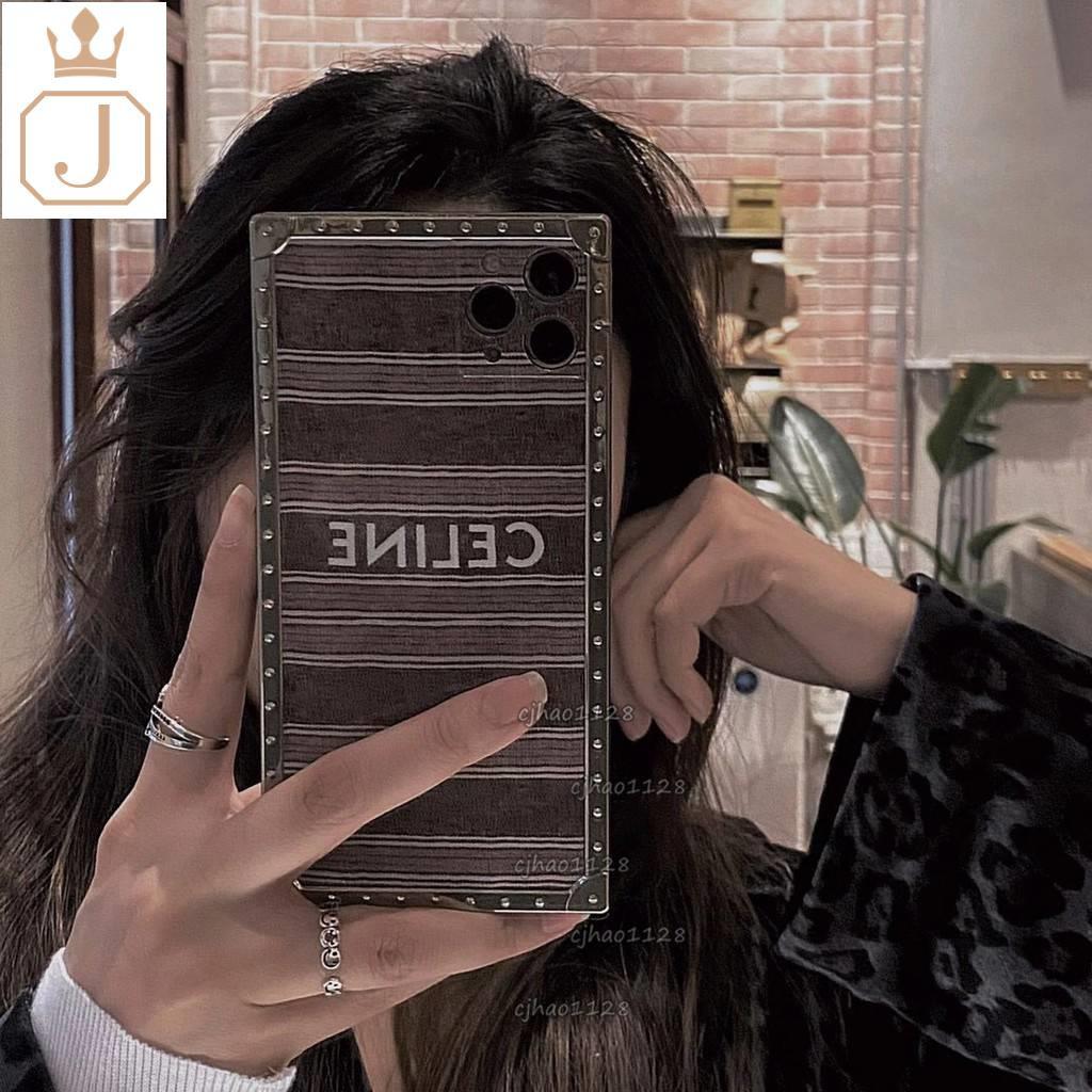 「特務J」新款CELINE方形手機殼適用iPhone 12 11 Pro Max XR Xs 8plus 手機殼全包防摔
