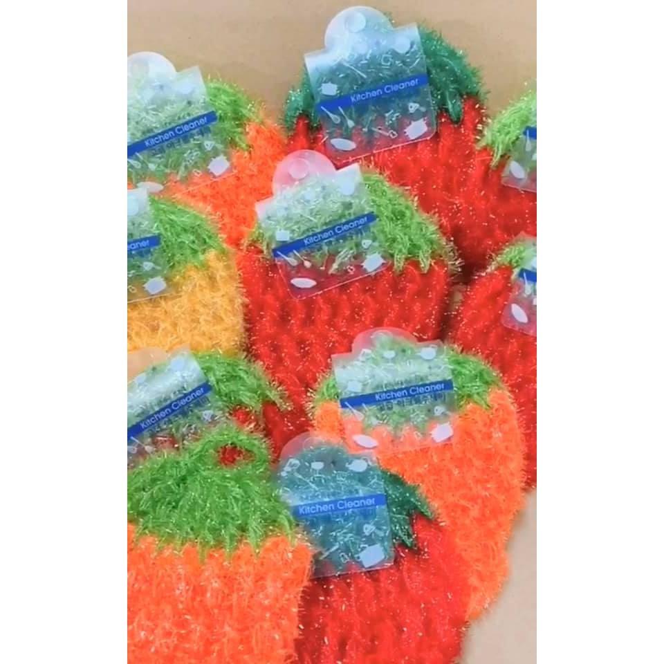 『※妳好,可愛※』妳好可愛韓國童鞋  韓國超好用 超細纖維草莓造型洗碗巾 韓國菜瓜布
