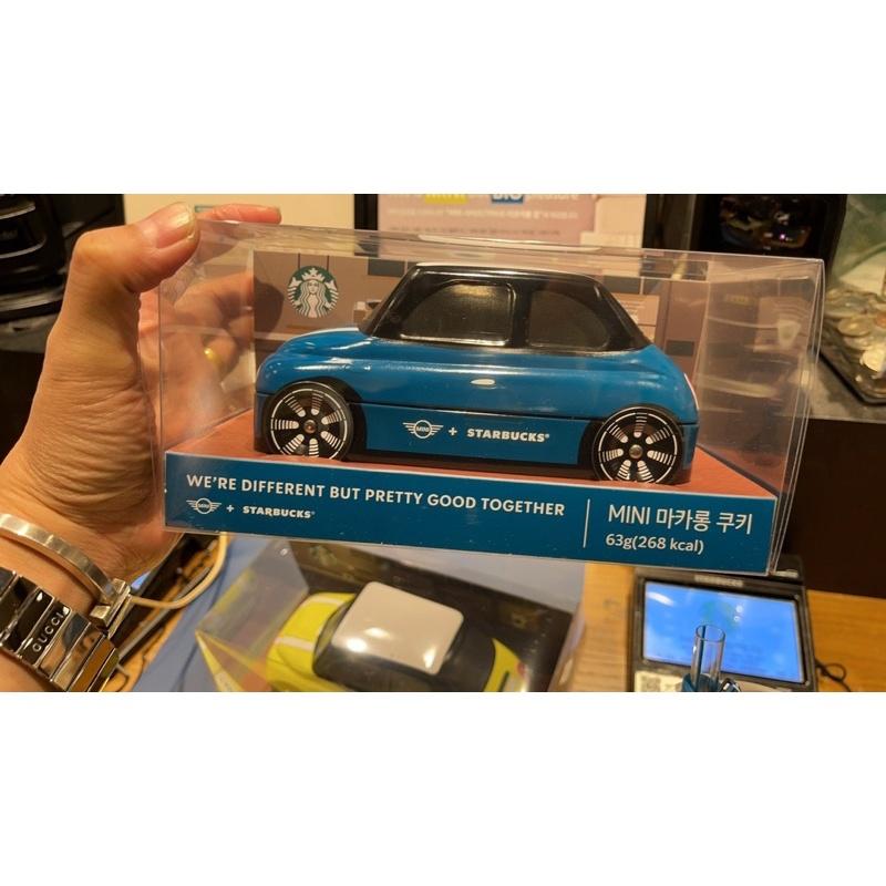 韓國星巴克聯名款MINI Cooper汽車 超級限量馬卡龍餅乾