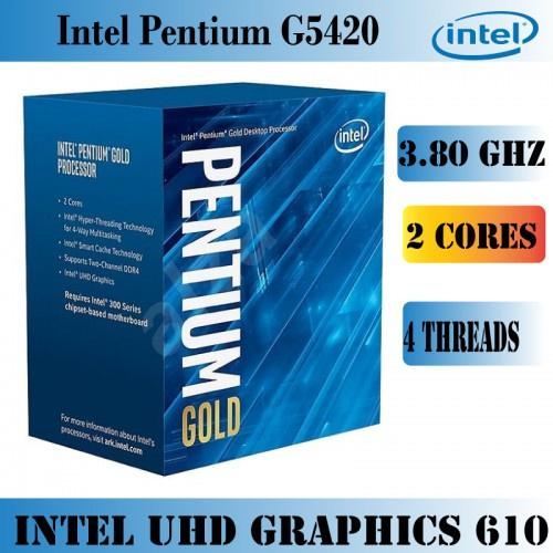 Intel Pentium 雙核心 G5420 1151腳位 內建顯示 速度3.8G 快取4M 第九代 超越 G5400