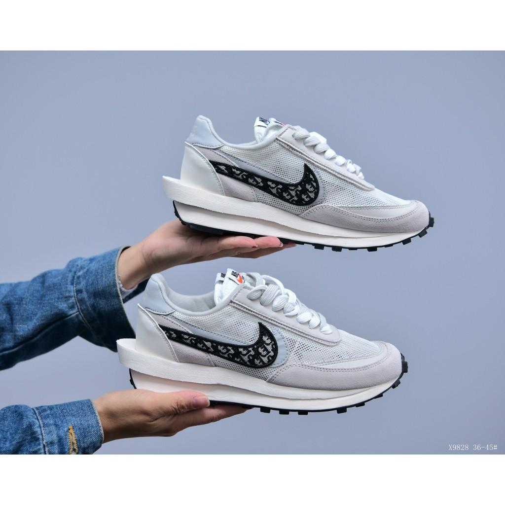 Nike x Sacai x Dior聯名 華夫迪奧雙勾復古運動跑鞋