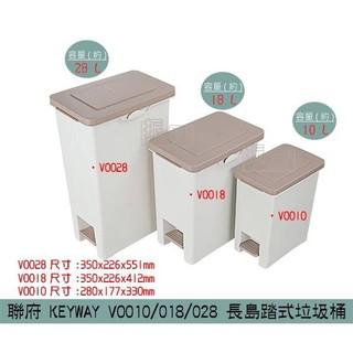 聯府KEYWAY VO010/ VO018/ VO028 長島踏式垃圾桶  腳踏式垃圾桶 10L~28L / 台灣製 新北市