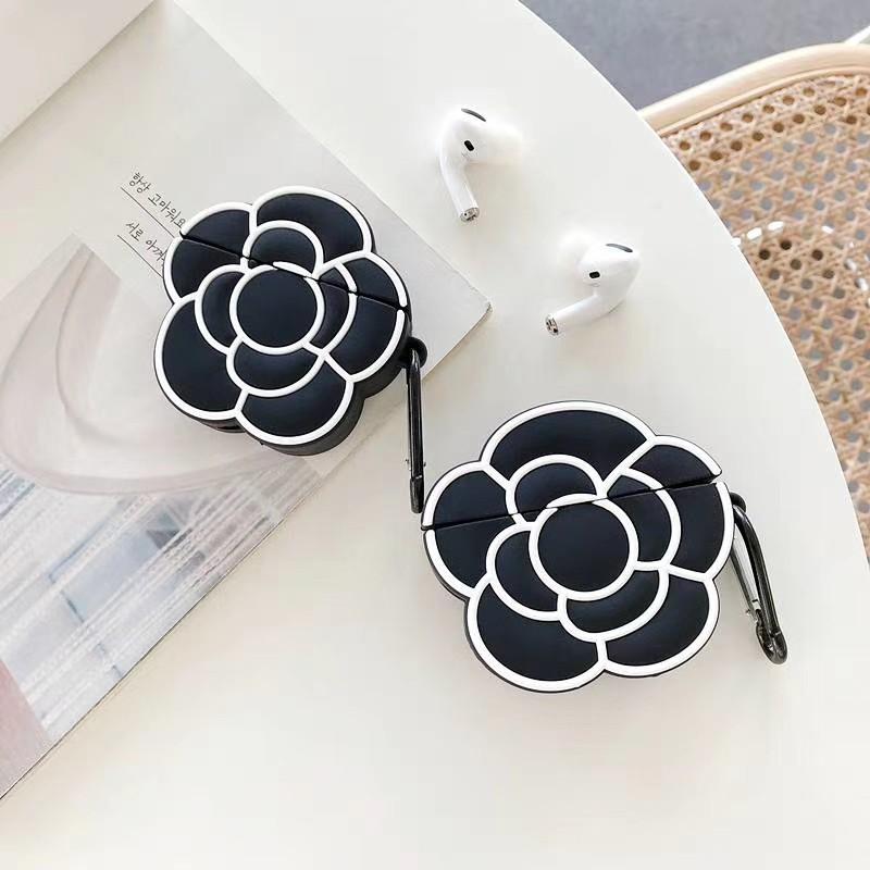 『Chanel香奈兒山茶花』適用於 AirPods1/2 保護套 蘋果耳機AirPods Pro保護套  全包硅膠耳機套