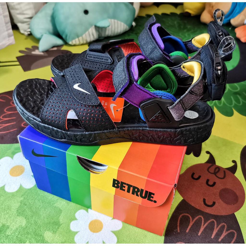 正品 Nike ACG Air Deschutz BETRUE 黑 彩虹 涼鞋 男女