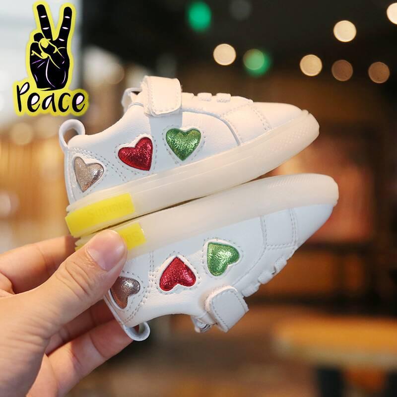 秋季女寶寶鞋子1-3歲春嬰兒學步鞋運動0一2男童軟底單鞋小童板鞋