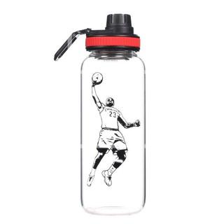 2020年10月新款1000ml大容量玻璃水杯夏季戶外運動水瓶耐熱過濾花茶杯