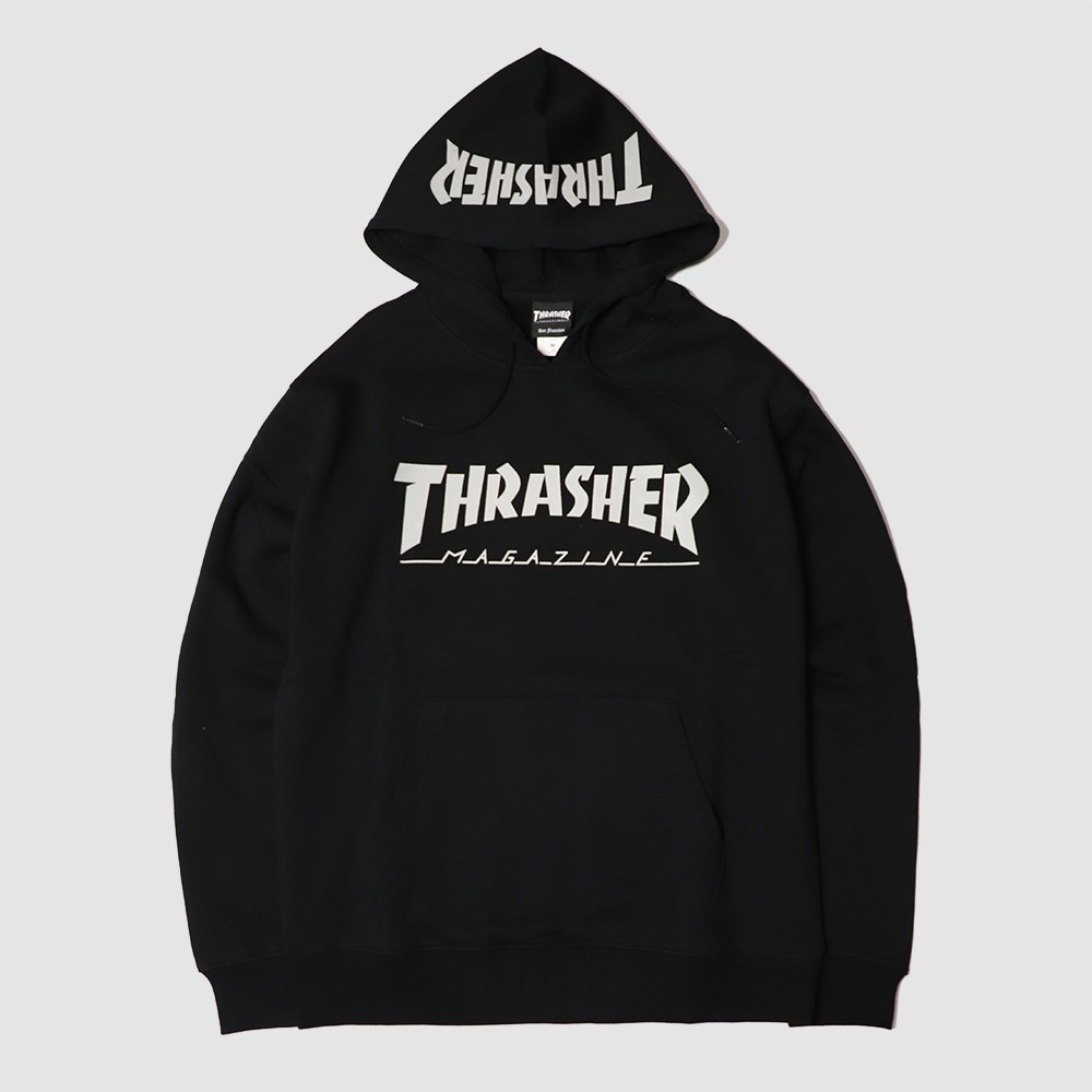 【奎斯特】THRASHER 日線反光LOGO帽T 黑色 REFLECTIVE HOODED SWEATSHIRT