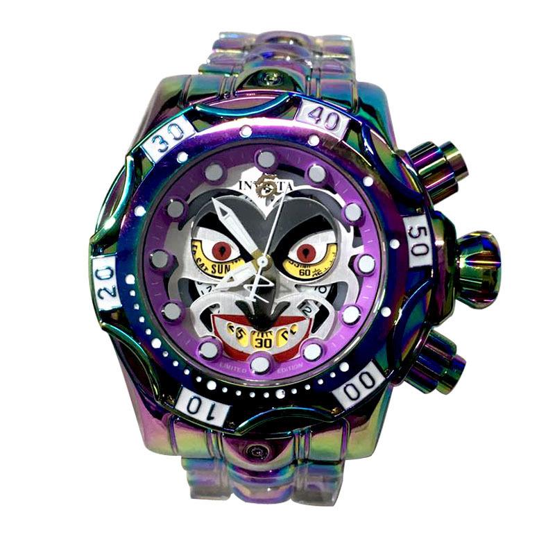正品 小丑手錶 INVICTA 英弗他歐美小丑手錶 男士石英手錶 創意男生手錶 男生石英手錶 小丑手錶