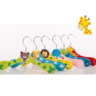 韓國連線 可愛動物木製彩色寶寶衣架 嬰幼兒衣架 兒童衣架 寵物衣架 貓狗衣架(普版 6mm)每支29元 新竹縣