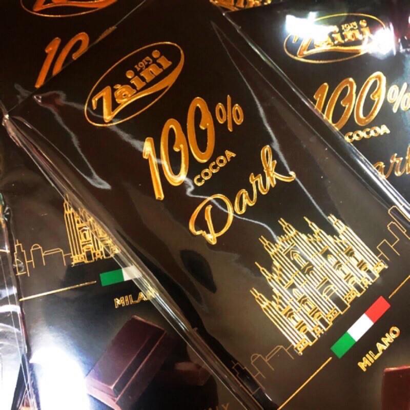 義大利🇮🇹采霓100%純黑巧克力 70g 健身飲食 健身巧克力