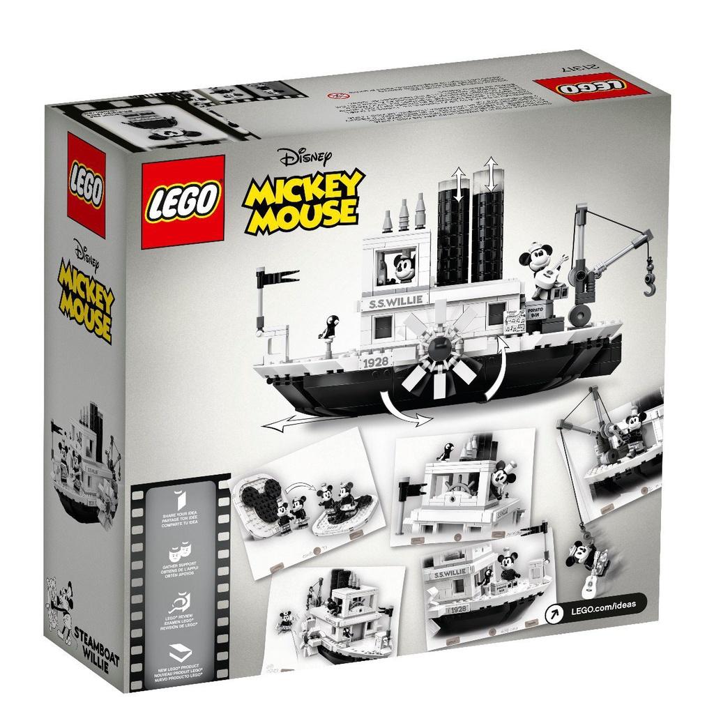 關注-100*正品LEGO樂高積木 IDEAS系列 21317 米奇的威利號汽船玩具 現貨