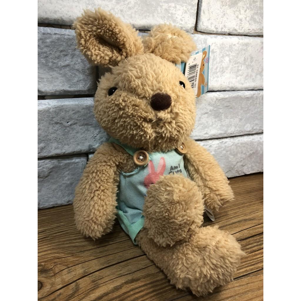 現貨 ❤ 【NANANA小舖】娃娃機商品-可愛吊帶褲歡樂兔絨毛玩偶娃娃布偶玩偶(7英吋) 台主 超愛夾