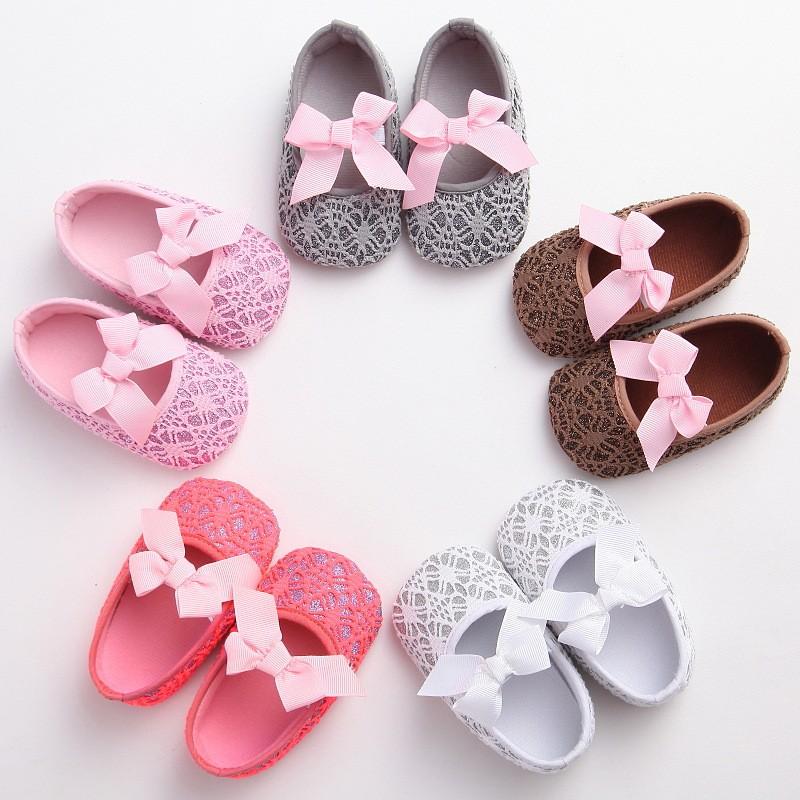 0-1歲女寶寶鞋子時尚蕾絲公主鞋嬰兒學步鞋超輕透氣幼童鞋女童鞋女嬰鞋寶寶鞋