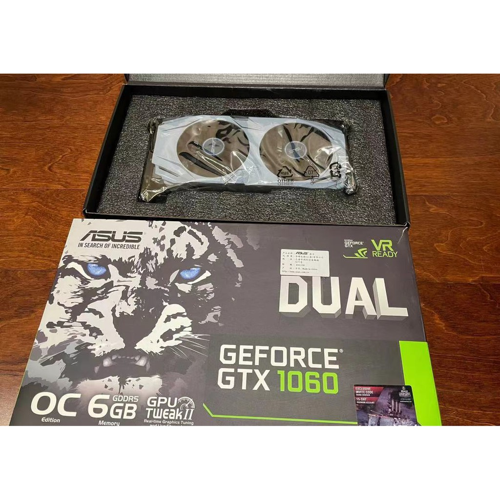 【無貨】華碩Asus dual gtx1060 6gb OC顯示卡