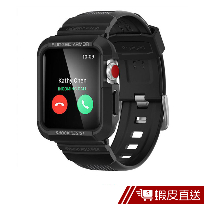 SGP Spigen Apple Watch(42mm) Rugged Armor Pro-軍規防摔保護殼  蝦皮直送